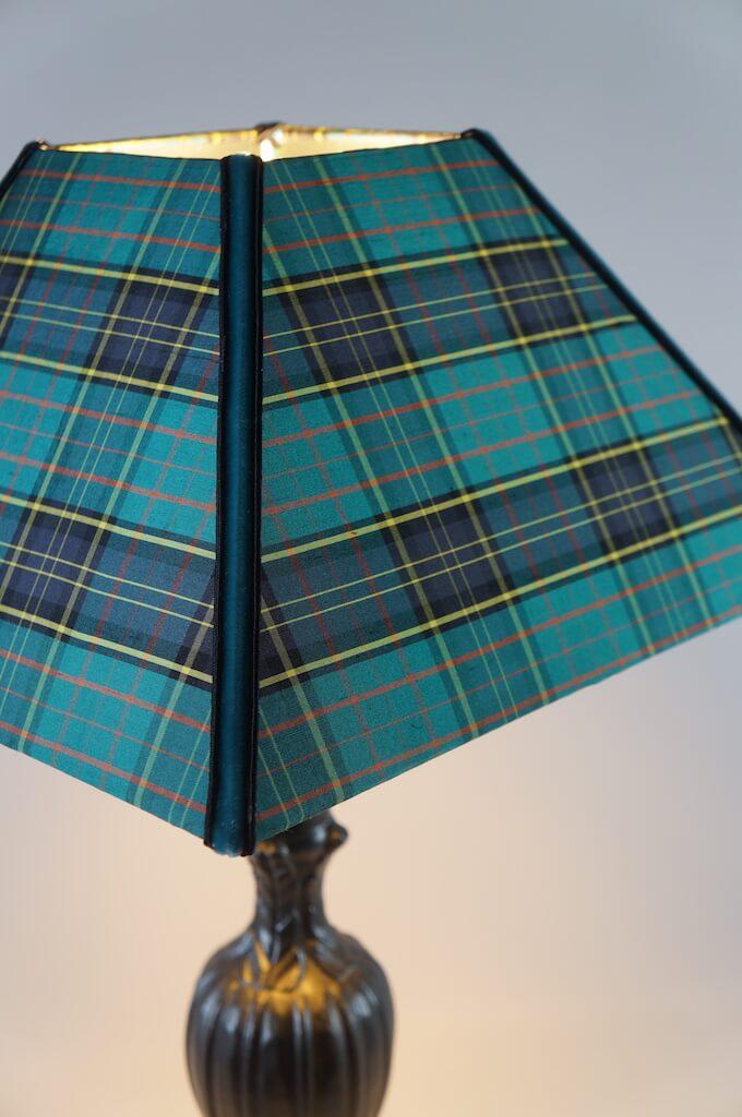 ambiances et toiles abat-jour ecossais détail comp