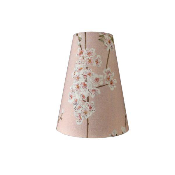 Suspension baladeuse rose tissu fleurs d'amandier