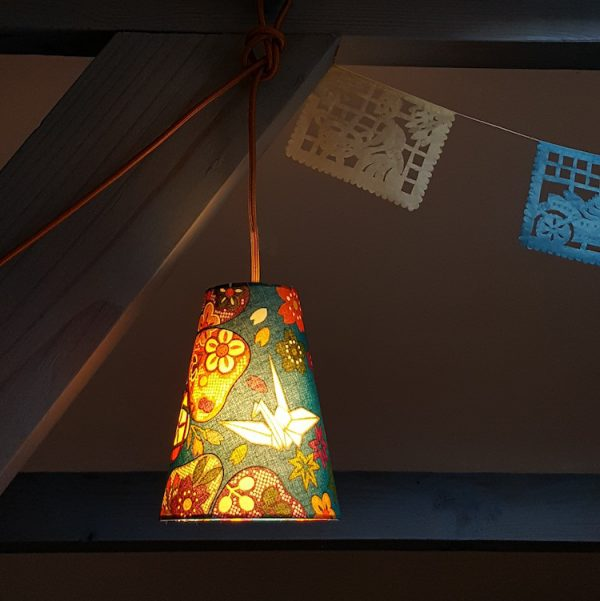 Suspension nomade déco tissu japonais