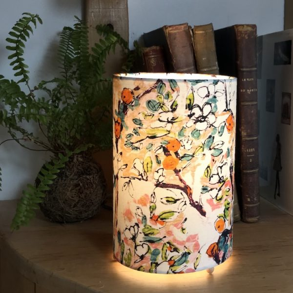 Lampe à poser cylindrique motif Pomme d'Api Lalie design off