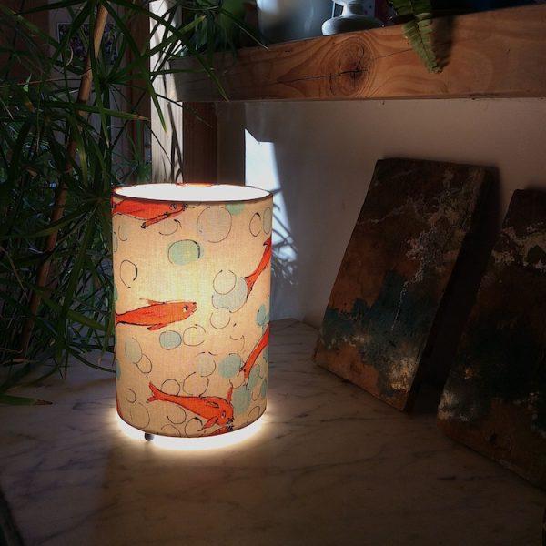 Lampe cylindrique tissu Lalie design