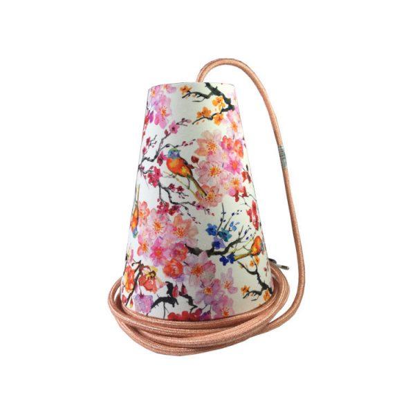 suspension motif japonais fleuri