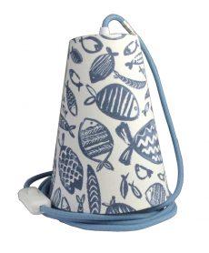 suspension baladeuse poisson stylise bleu