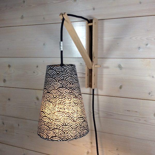 lampe baladeuse tissu japonais