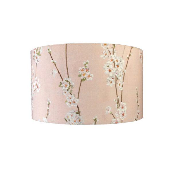 abatjour cylindre fleurs amandier