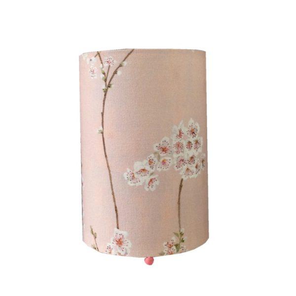 Lampe de chevet rose fleurs amandier
